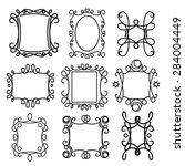 decorative frame line vector... | Shutterstock .eps vector #284004449