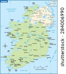 ireland country map | Shutterstock .eps vector #284006990
