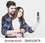 tehnology  internet  emotional  ... | Shutterstock . vector #284010878