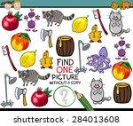 cartoon illustration of finding ... | Shutterstock . vector #284013608
