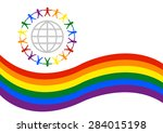 pride parade banner or logo...   Shutterstock .eps vector #284015198