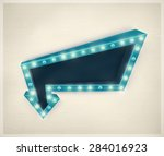 3d retro arrow  vintage banner  ... | Shutterstock .eps vector #284016923