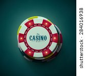 casino chips  top view  eps 10 | Shutterstock .eps vector #284016938