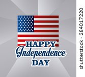 independence day design over... | Shutterstock .eps vector #284017220
