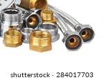 plumbing fitting and hosepipe ... | Shutterstock . vector #284017703
