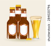 cold beer design  vector... | Shutterstock .eps vector #284020796