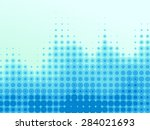halftone blue waves | Shutterstock .eps vector #284021693