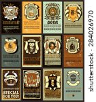 set contains images of beer... | Shutterstock .eps vector #284026970