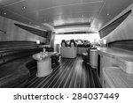 italy  luxury yacht  dinette | Shutterstock . vector #284037449