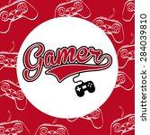 video games design  vector... | Shutterstock .eps vector #284039810