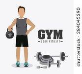 gym design over white... | Shutterstock .eps vector #284045390