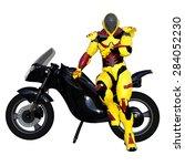 robot rider | Shutterstock . vector #284052230