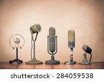 retro old microphones for press ... | Shutterstock . vector #284059538