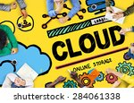 cloud computing network storage ... | Shutterstock . vector #284061338