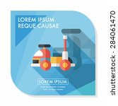 toy car flat icon with long... | Shutterstock .eps vector #284061470