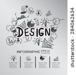 business hand drawn concept... | Shutterstock .eps vector #284062634
