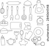 kitchen icon.  | Shutterstock . vector #284064548