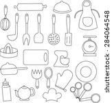 kitchen icon.  | Shutterstock . vector #284064548