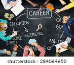 career job goal expertise skill ... | Shutterstock . vector #284064650