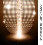 dark brown color neon grow... | Shutterstock .eps vector #284073200