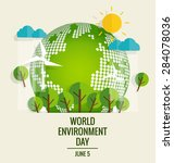 world environment day concept.... | Shutterstock .eps vector #284078036