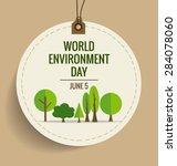 nature banner. world... | Shutterstock .eps vector #284078060