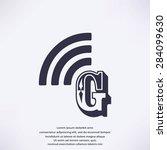 letter g  icon  | Shutterstock .eps vector #284099630