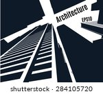 sketch of a skyscrapers of city ... | Shutterstock .eps vector #284105720