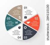 vector circle infographic.... | Shutterstock .eps vector #284110130