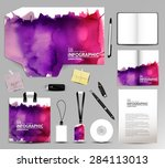stationery design corporate... | Shutterstock .eps vector #284113013