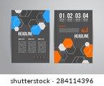flyer design template with... | Shutterstock . vector #284114396