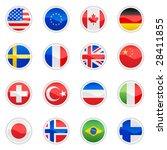 flag set vector | Shutterstock .eps vector #28411855