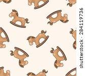 baby toy   cartoon seamless... | Shutterstock . vector #284119736
