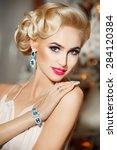 beauty woman fashion model... | Shutterstock . vector #284120384