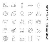 line sport and fitness big... | Shutterstock .eps vector #284121689