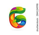 number six volume logo  vector... | Shutterstock .eps vector #284124998