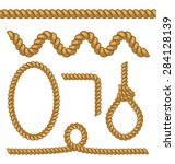 illustration different rope... | Shutterstock . vector #284128139