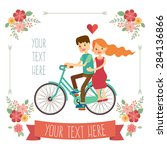 wedding invitation card with... | Shutterstock .eps vector #284136866