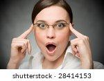 surprised business woman | Shutterstock . vector #28414153