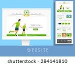 stylish website template layout ...