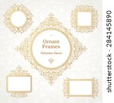vector decorative frame in... | Shutterstock .eps vector #284145890