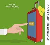 online ticket booking flat...   Shutterstock .eps vector #284151770