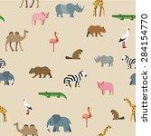 pattern animals | Shutterstock .eps vector #284154770