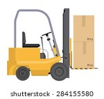vector loader with boxes...   Shutterstock .eps vector #284155580