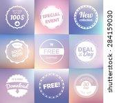vintage labels template set ... | Shutterstock .eps vector #284159030