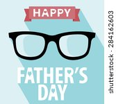 happy fathers day card vintage... | Shutterstock .eps vector #284162603