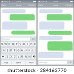 chat   sms application template ... | Shutterstock .eps vector #284163770
