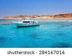 tourist cruise boat with... | Shutterstock . vector #284167016