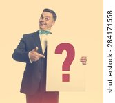 funny guy in the bow tie... | Shutterstock . vector #284171558