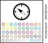 compass . icon. vector design...